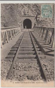 Train tunnel entrance railroad Blida Algeria 1905 postcard