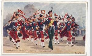 Pipes & Drums Of The Royal Scots, (The Royal Regiment) PPC By Valentines, 1957