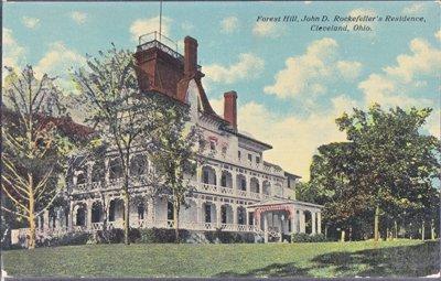 Cleveland OH - John D. Rockefeller's residence, FOREST HILL 1900s
