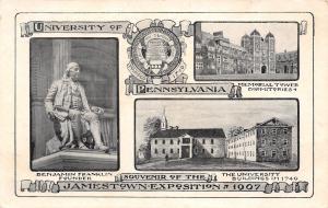 University of Pennsylvania~Jamestown Exposition Souvenir~1907 Art Nouveau PC