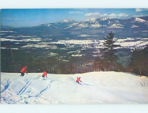 Chrome SKIING SCENE North Conway New Hampshire NH AG5203@