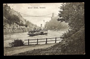 TQ2919 - Bristol - Paddle Steamer chugs up the River Avon to Bristol - postcard