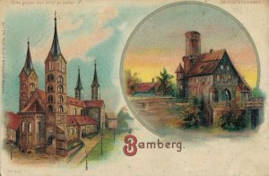 Germany - Bamberg litho Hold to the Light Postcard 03.84