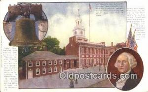 Liberty Bell George Washington 1st USA President Postcard Postcards  Liberty ...