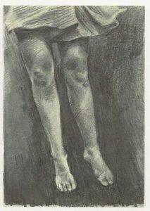 Patsy McArthur Levitation Lady Skirt Brighton Painting Postcard