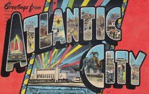 Large Letter ATLANTIC CITY, New Jersey, PU-1945