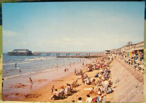 England The Beach and Pier Boscombe Dorset - unposted
