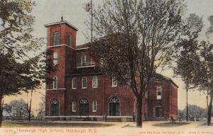 Hamburgh New York High School Street View Antique Postcard K32263
