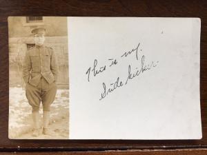 RPPC US Army WW1 Soldier My Sidekick Z8