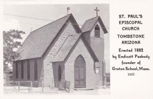 RP: TOMBSTONE, Arizona 1930-40s ; St Paul's Episcopal Church