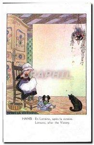 Old Postcard Fantasy Illustrator Waltz Hansi in Lorraine after the victory Al...