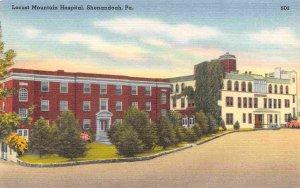 Locust Mountain Hospital Shenandoah Pennsylvania linen postcard