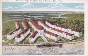 CEDAR POINT, Ohio, 1910-1920s; The Hotel Breakers, Cedar Point On Lake Erie