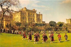 Scotland, UK Old Vintage Antique Post Card Maybole Pipe Band at Culzean Castl...