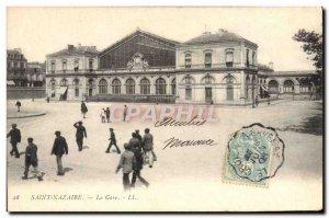 Old Postcard Saint Nazaire Train