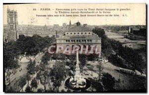 Postcard Old Paris Panorama taken to the Tower Saint Jacques