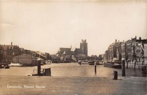 Netherlands Dordrecht Nieuwe Haven, port harbour 1953