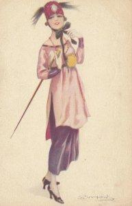 Art Deco ; BOMPARD ; Fashion Woman Portrait #2 , 1910-20s
