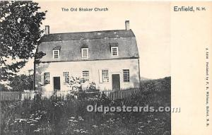Old Vintage Shaker Post Card The Old  Church Enfield, New Hampshire, NH, USA ...