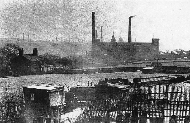 Lancashire, Cotton mills at Rochdale Smokeless chimneys 1952 Nostalgia Reprint