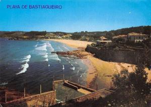 Spain La Coruna Playa de Bastiagueiro Plage Beach
