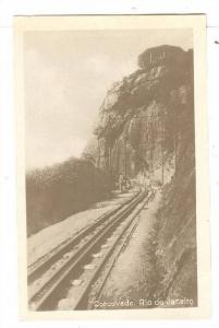 RP; E.F. Corcovado, man on Railroad tracks , Rio de Janeiro , Brazil , 00-10s