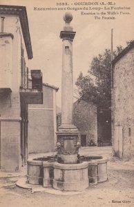 GOURDON, Alpes Maritimes, France, 1900-1910's; La Fontaine