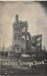 San Francisco California 1906 Disaster Postcard Earthquake Chelsea Savings Bank