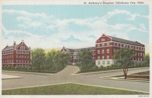 St Anthonys Hospital Oklahoma Okia Old Postcard