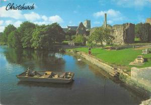 B97024 christchurch   priory church and norman house fishing   uk
