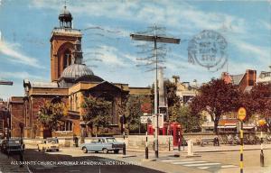 uk8393 all saints church and war memorial northampton uk