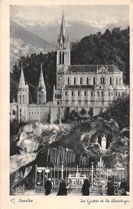 France , Lourdes La Grotte et la Basilique Basilica