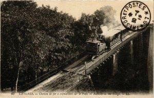 CPA AK LANGRES Chemin de fer a crémaillere sur le Pont (864675)