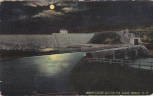 Moonlight At Delta Dam, Rome, New York, PU-1915