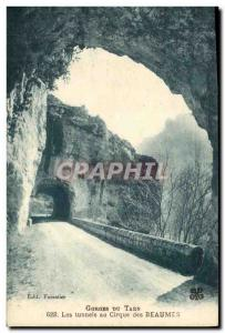 Old Postcard Army Tarn Gorges The tunnels Cirque des Beaumes