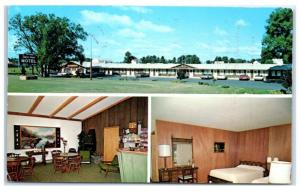Vintage Swiss-Aire Motel, New Glarus, WI Postcard