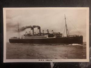Mint Canada RPPC Postcard RMS Melita Canadian Pacific Line passengers