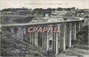 Postcard Old Saint Brieuc Toupin Viaduct
