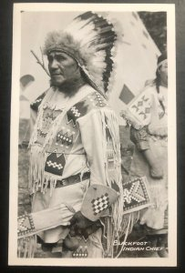 Mint Canada RPPC Postcard Native American Indian Blackfoot Indian Chief B