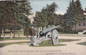 British Gun-24 pounder was at one time part of the armament of a British Vess...