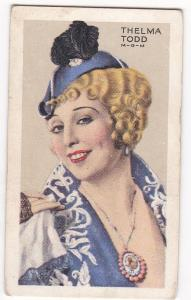 Cigarette Cards Park Drive STARS OF SCREEN & STAGE No 4 Thelma Todd