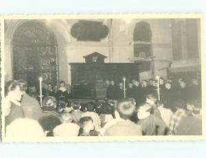 rppc 1920's COFFIN AT FUNERAL IN CHURCH AC8851