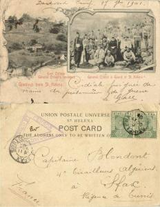 St. Helena, Deadwood POW Camp BOER WAR 1901 Sent by Prisoner 3446 Le Gall Censor
