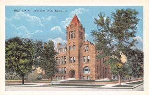Arkansas City Kansas~High School~1916 Postcard