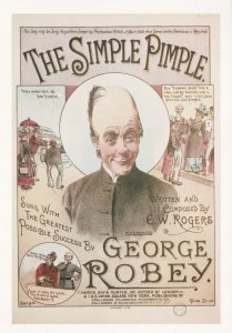George Robey The Simple Pimple Giant Rare Postcard