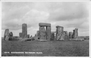 Stonehenge, Salisbury Plain Sologlaze Series, Real Photo