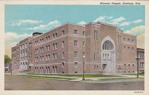 Street view showing Masonic Temple, Hastings,  Nebraska,  PU-1946