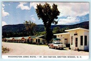 BRETTON WOODS, New Hampshire NH ~ Roadside WASHINGTON ARMS MOTEL 1950s  Postcard