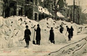 Canada - Quebec, Montreal. Park Avenue in Winter