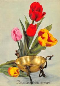 Happy Birthday, Tulips Flowers Fleurs Heureux Anniversaire